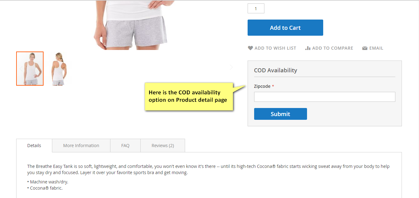 magento 2 extension for cod with zip code validation