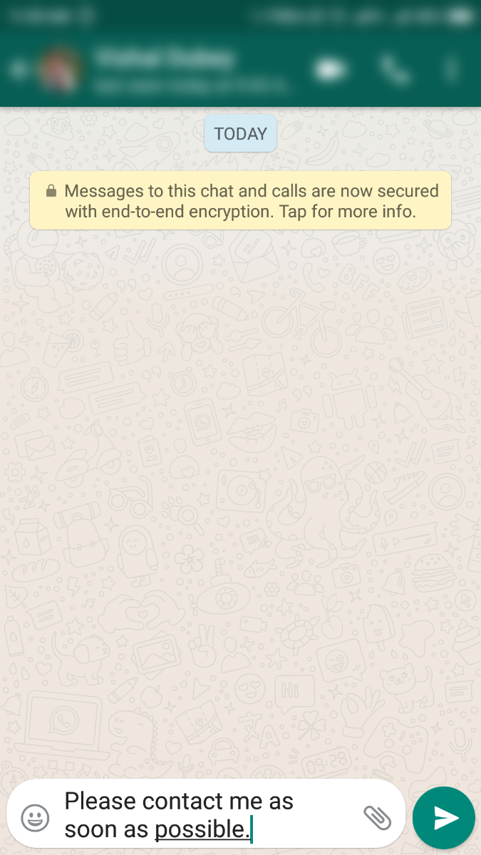 Share Message in WhatsApp Mobile