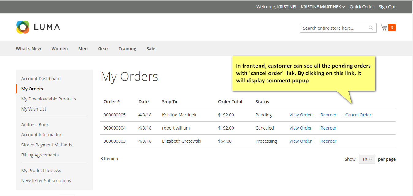 cancel order Magento extension