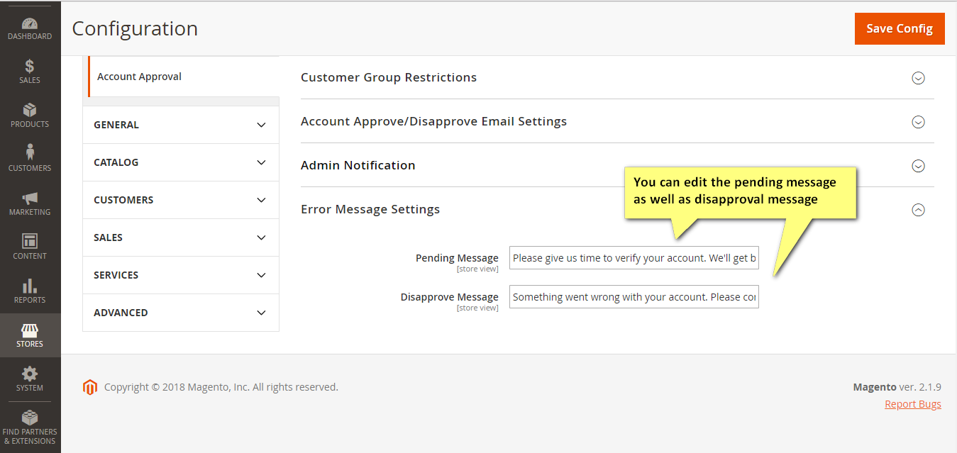 magento 2 extension for customer account approval