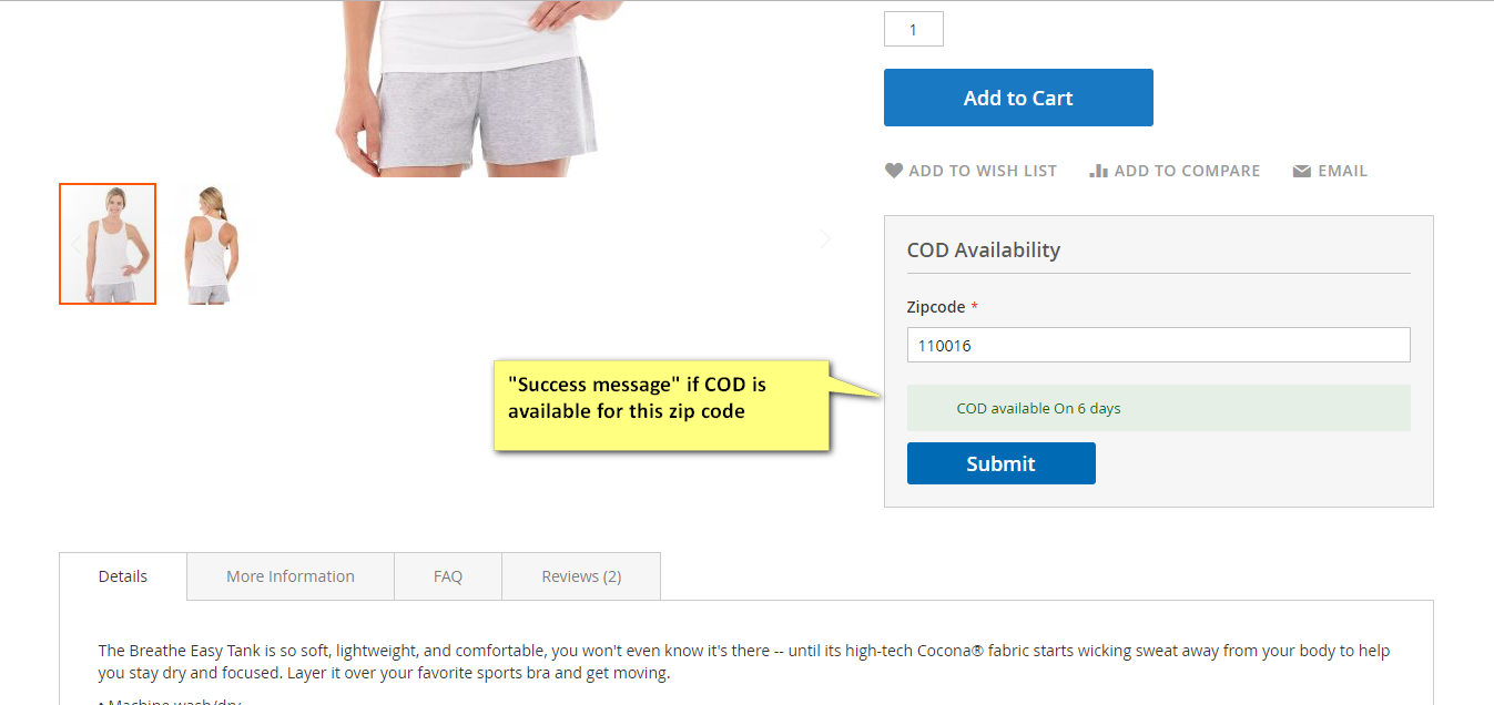 cod availability magento 2 extension