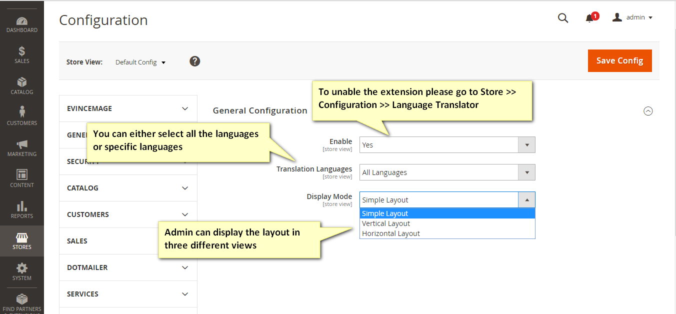 Google Language Translator Magento 2 Extension