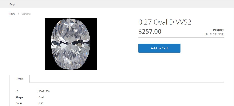 Diamond details page