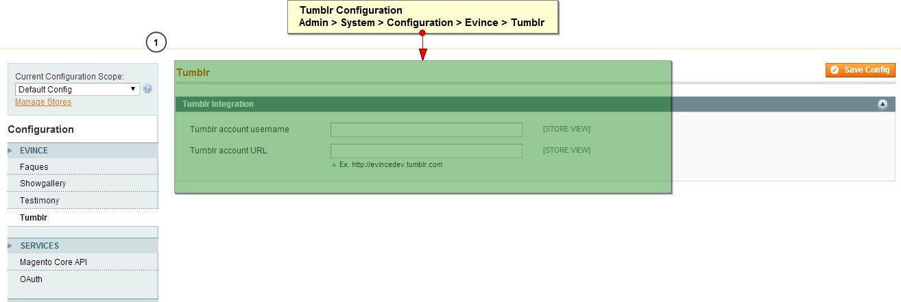 Tumblr configuration
