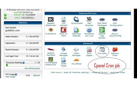 Set cron job in Cpanel