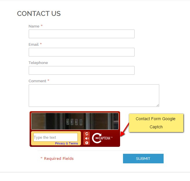 Contact  Recaptcha in the Contact Form