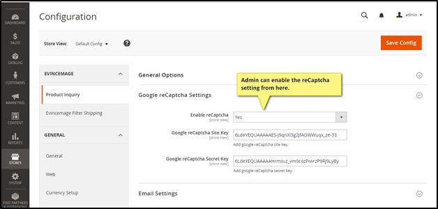 Google Recaptcha configuration