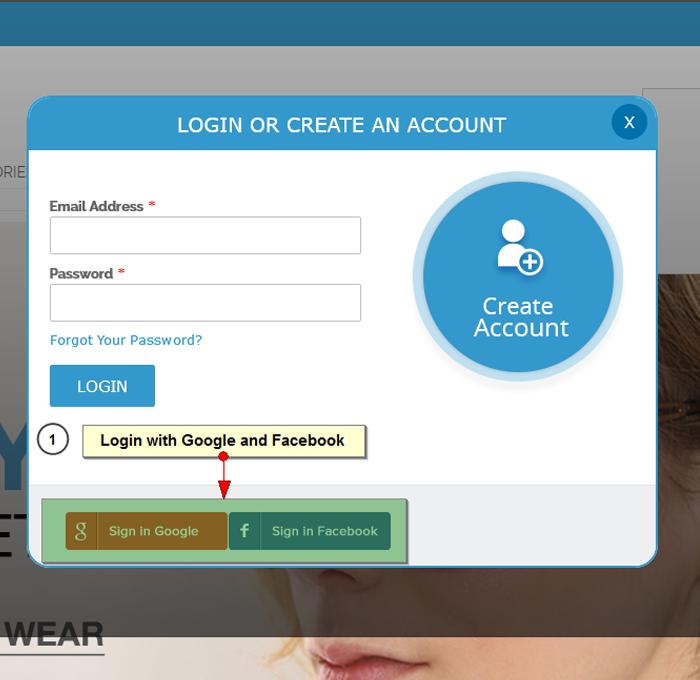 Social login buttons