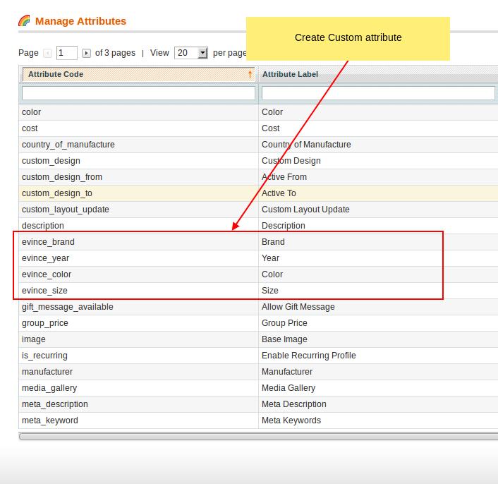 Create custom attribute